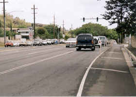 Wide view of east end of H-1, at Ainakoa Avenue intersection