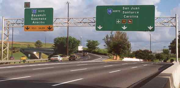 North end of PRI-1, at PR-18/PR-22 junction