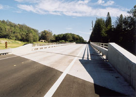 Replacement for washed-out bridge on state route 11