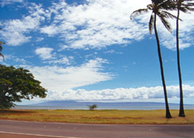 One Ali'i Beach Park, with Lanai across the strait