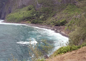 Kalawao Cove closeup
