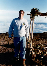 Me, standing next to shrine atop Pu'u Wekiu