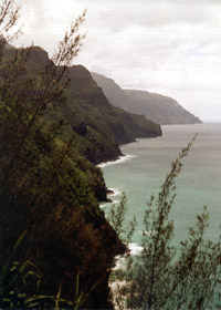 North end of Na Poli cliffs