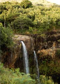 Wailua Falls, northwest of Lihue